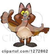 Clipart Of A Happy Bat Giving A Thumb Up Royalty Free Vector Illustration by Dennis Holmes Designs
