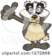 Clipart Of A Happy Badger Giving A Thumb Up Royalty Free Vector Illustration by Dennis Holmes Designs