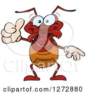 Clipart Of A Happy Ant Giving A Thumb Up Royalty Free Vector Illustration by Dennis Holmes Designs
