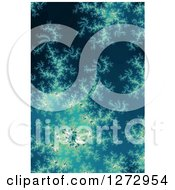 Clipart Of A Blue Fractal Spiral Background Royalty Free Illustration