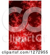 Clipart Of A Red Fractal Spiral Background Royalty Free Illustration