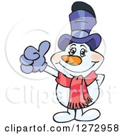 Clipart Of A Happy Mrs Snowman Giving A Thumb Up Royalty Free Vector Illustration