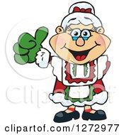 Clipart Of A Happy Mrs Claus Giving A Thumb Up Royalty Free Vector Illustration by Dennis Holmes Designs
