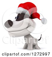 Clipart Of A 3d Christmas Jack Russell Terrier Dog Facing Left Royalty Free Illustration