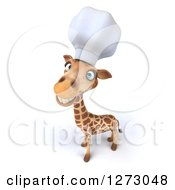 Clipart Of A 3d Chef Giraffe Smiling Upwards Royalty Free Illustration