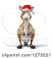 Clipart Of A 3d Christmas Kangaroo Royalty Free Illustration