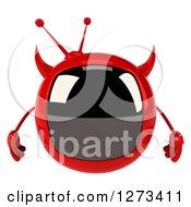 Clipart Of A 3d Evil Devil Tv Royalty Free Illustration by Julos