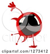 Clipart Of A 3d Evil Devil Tv Cartwheeling Royalty Free Illustration by Julos