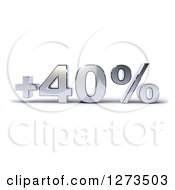 Clipart Of A Chrome Plus 40 Percent Design Royalty Free Illustration