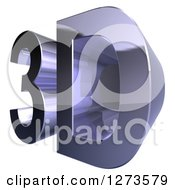 Clipart Of A Chrome 3d Design On White Royalty Free Illustration