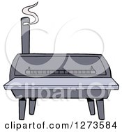 Clipart Of A Bbq Smoker Royalty Free Vector Illustration by LaffToon