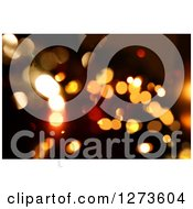 Clipart Of A Dark Christmas Background With Glittery Bokeh Lights Royalty Free Illustration