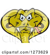Clipart Of A Cobra Snake Head Royalty Free Vector Illustration