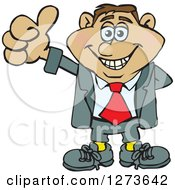 Clipart Of A Happy Hispanic Businessman Giving A Thumb Up Royalty Free Vector Illustration