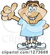 Clipart Of A Happy Hispanic Man Giving A Thumb Up Royalty Free Vector Illustration