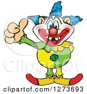 Clipart Of A Happy Clown Giving A Thumb Up Royalty Free Vector Illustration by Dennis Holmes Designs