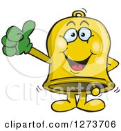 Clipart Of A Happy Bell Giving A Thumb Up Royalty Free Vector Illustration