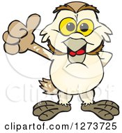 Clipart Of A Happy Barn Owl Giving A Thumb Up Royalty Free Vector Illustration by Dennis Holmes Designs