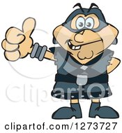 Clipart Of A Happy Executioner Giving A Thumb Up Royalty Free Vector Illustration by Dennis Holmes Designs