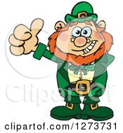 Clipart Of A Happy Leprechaun Giving A Thumb Up Royalty Free Vector Illustration by Dennis Holmes Designs