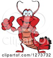 Clipart Of A Happy Lobster Giving A Thumb Up Royalty Free Vector Illustration by Dennis Holmes Designs