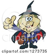 Clipart Of A Happy Witch Giving A Thumb Up Royalty Free Vector Illustration by Dennis Holmes Designs