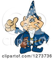 Clipart Of A Happy Wizard Giving A Thumb Up Royalty Free Vector Illustration by Dennis Holmes Designs