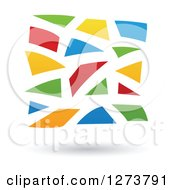 Clipart Of A Colorful Mosaic Abstract Design And Shadow Royalty Free Vector Illustration by cidepix
