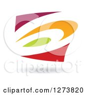 Colorful Abstract Design And Shadow