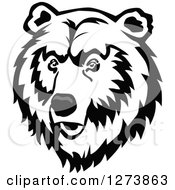 Clipart Of A Bear Face Royalty Free Vector Illustration