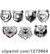 Clipart Of Bear Heads Royalty Free Vector Illustration by Seamartini Graphics