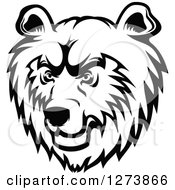 Clipart Of A Black And White Bear Face Royalty Free Vector Illustration by Seamartini Graphics
