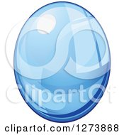 Clipart Of A Blue Droplet Of Water 7 Royalty Free Vector Illustration by Vector Tradition SM