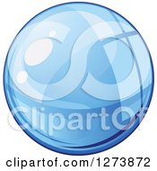 Clipart Of A Blue Droplet Of Water Royalty Free Vector Illustration