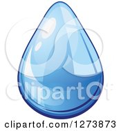 Clipart Of A Blue Droplet Of Water 10 Royalty Free Vector Illustration by Vector Tradition SM
