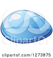 Clipart Of A Blue Droplet Of Water 9 Royalty Free Vector Illustration by Vector Tradition SM