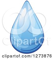Clipart Of A Blue Droplet Of Water 3 Royalty Free Vector Illustration by Vector Tradition SM