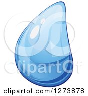 Clipart Of A Blue Droplet Of Water 8 Royalty Free Vector Illustration