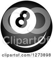 Clipart Of A Billiards Eightball Royalty Free Vector Illustration