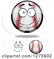 Clipart Of Baseballs And A Face 2 Royalty Free Vector Illustration