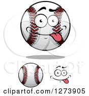 Clipart Of Baseballs And A Face Royalty Free Vector Illustration