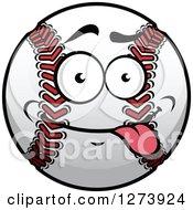 Clipart Of A Goofy Baseball Character Royalty Free Vector Illustration