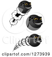 Poster, Art Print Of Grinning Bowling Ball Characters