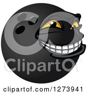 Poster, Art Print Of Grinning Bowling Ball Character