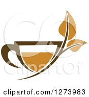 Poster, Art Print Of Leafy Brown Tea Cup 4
