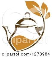 Leafy Brown Tea Pot 3