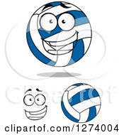 Clipart Of Volleyballs And A Face Royalty Free Vector Illustration