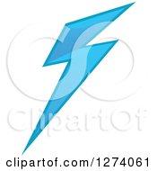Clipart Of A Bolt Of Blue Lightning 9 Royalty Free Vector Illustration