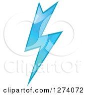 Clipart Of A Bolt Of Blue Lightning 17 Royalty Free Vector Illustration