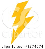 Clipart Of A Bolt Of Yellow Lightning 7 Royalty Free Vector Illustration